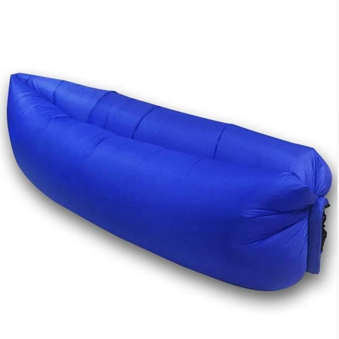 2x canap lit gonflable portable beach lazy sleeping bag couleur bleu fonc - Canape lit gonflable ...