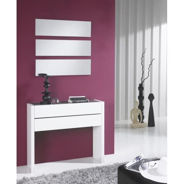 console miroir meuble d 39 entr e blanc allan meuble house. Black Bedroom Furniture Sets. Home Design Ideas