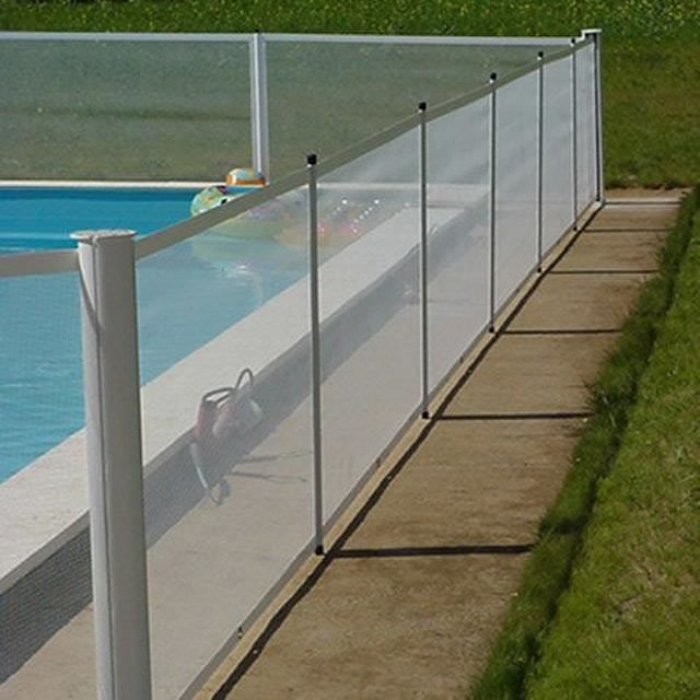 Poteau intermediaire barriere de securite pour piscine for Barriere amovible pour piscine