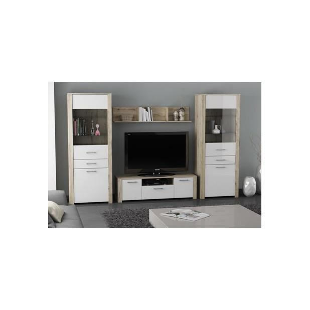 banc tv 2 portes ouvrantes 1 tiroir l 1m47 duke sanremo laque blanc achat vente meuble tv. Black Bedroom Furniture Sets. Home Design Ideas