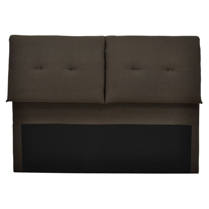 t te de lit en tissu musso achat vente t te de lit cdiscount. Black Bedroom Furniture Sets. Home Design Ideas