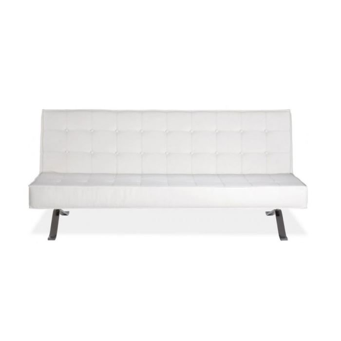 Canap convertible 3 places nelson couleur blanc achat for Canape nelson