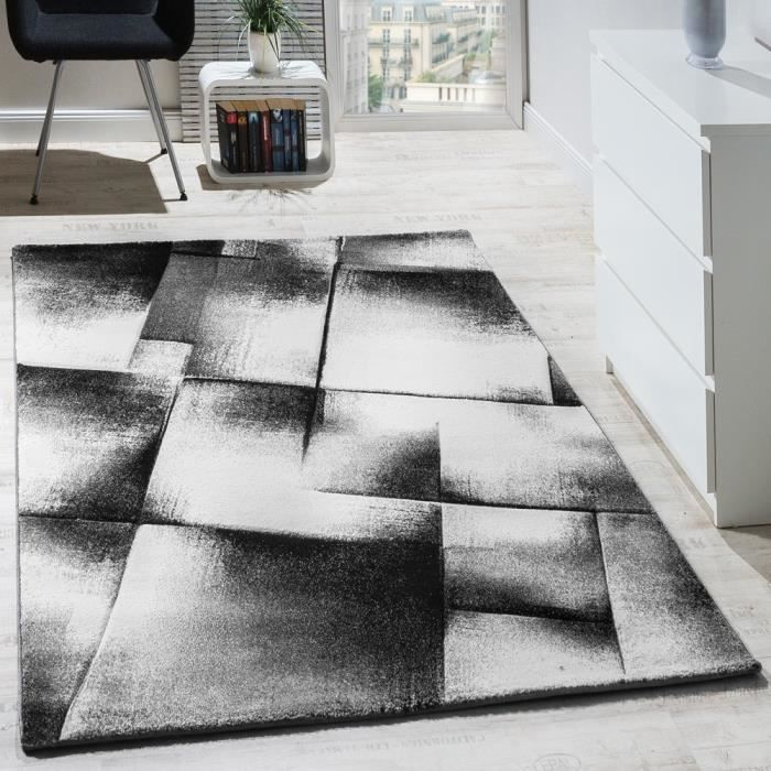 tapis salon poils ras gris 160x220 cm achat vente tapis cdiscount. Black Bedroom Furniture Sets. Home Design Ideas