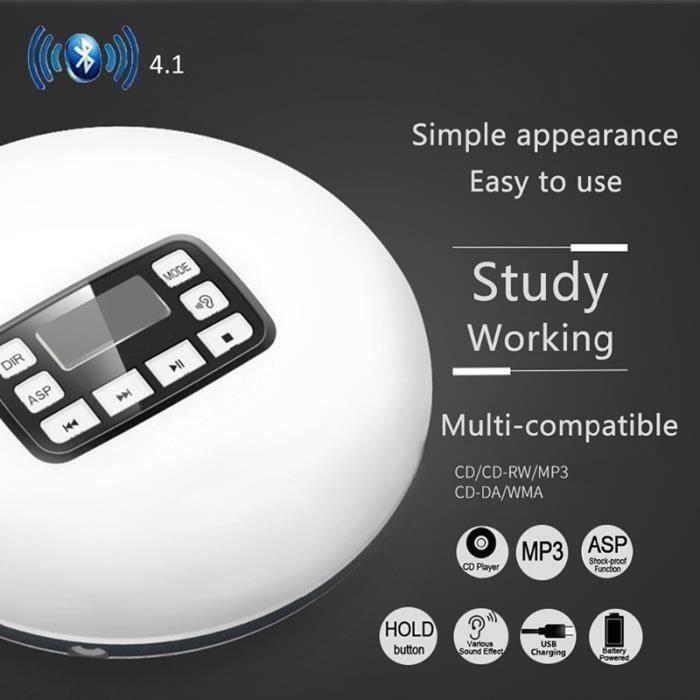 BALADEUR CD - CASSETTE Lecteur Cd Portable Bluetooth Lecteur Écran Lcd Éc
