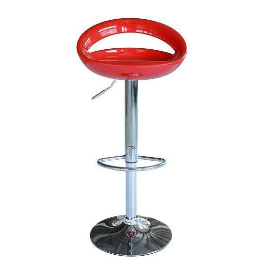 Lot de 2 tabourets de bar cuisine abs chrome rouge achat - Tabouret de bar cdiscount ...