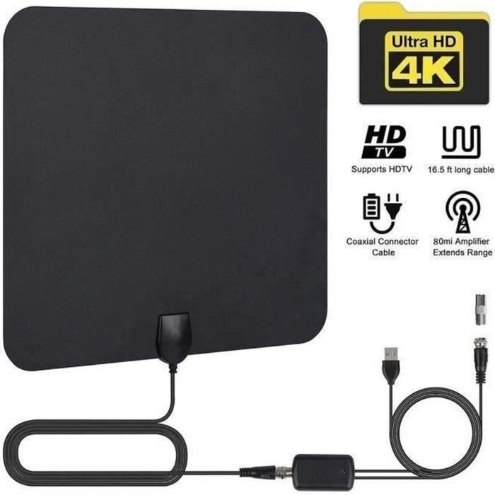 ANTENNE RATEAU Antenne TV intérieur puissante,Amplificateur Anten