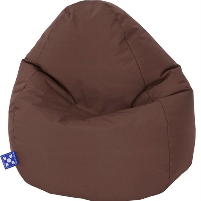 pouf jumbo bag scuba xxl chocolat achat vente pouf poire tissu cdiscount. Black Bedroom Furniture Sets. Home Design Ideas