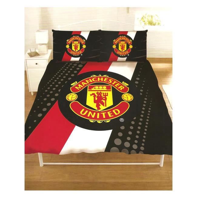 manchester united housse de couette 2 places achat vente housse de couette cdiscount. Black Bedroom Furniture Sets. Home Design Ideas