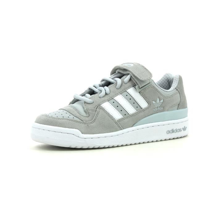 adidas Originals Chaussure Forum Low Blanc / Bleu / Or - Chaussures Baskets basses Homme