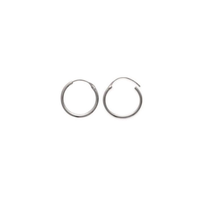 Créole en ARGENT 925 boucles d/'oreilles tube rond 2,5 mm diamètre 12 14 16 mm