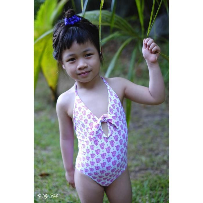 746 Maillot de bain une pièce-enfants-petite-fille-vacances-motif-princesse