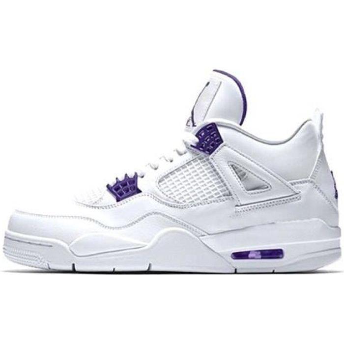 Airs Jordans 4 Retro Metallic Purple Chaussures de Basket Pas Cher ...