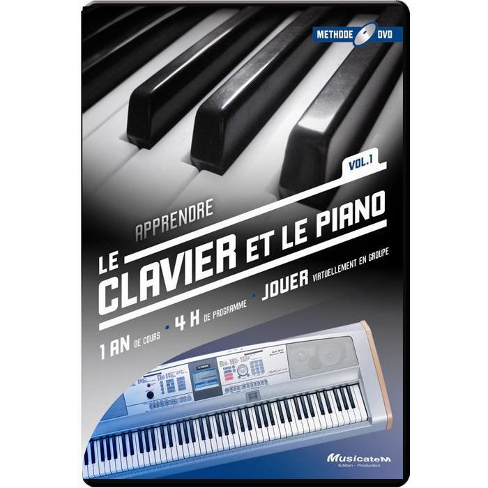 methode dvd apprendre le clavier et le piano pas cher achat vente m thode cdiscount. Black Bedroom Furniture Sets. Home Design Ideas