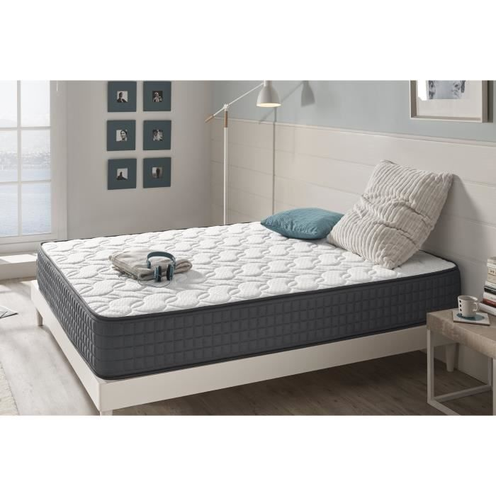 matelas en mousse hr effect m moire visco graphene 140x190 cm naturalex achat vente matelas. Black Bedroom Furniture Sets. Home Design Ideas