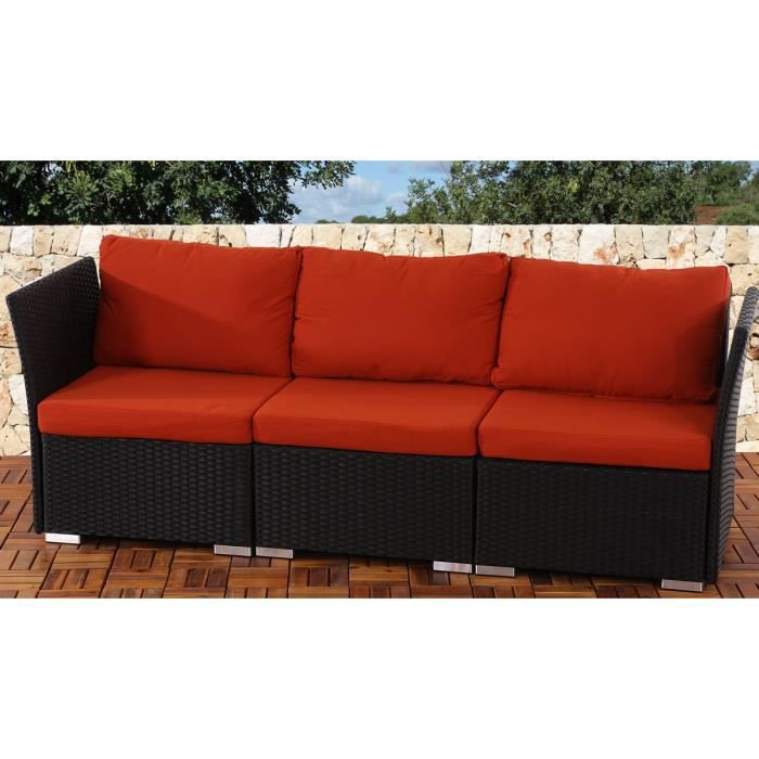 canap 3 places sienne poly rotin avec des oreillers la rouge achat vente fauteuil jardin. Black Bedroom Furniture Sets. Home Design Ideas