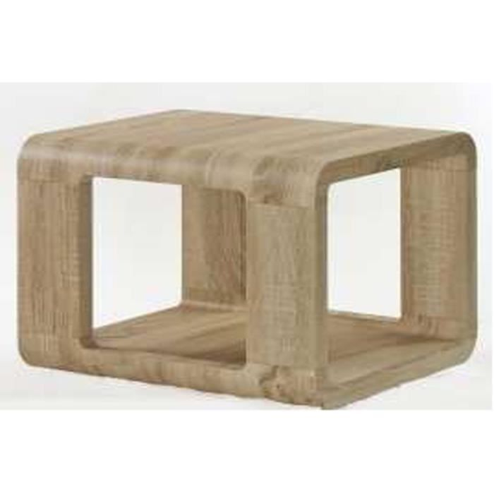 Table basse madach ii sonoma ch ne clair 550 x 550 x 500 for Table basse et haute a la fois