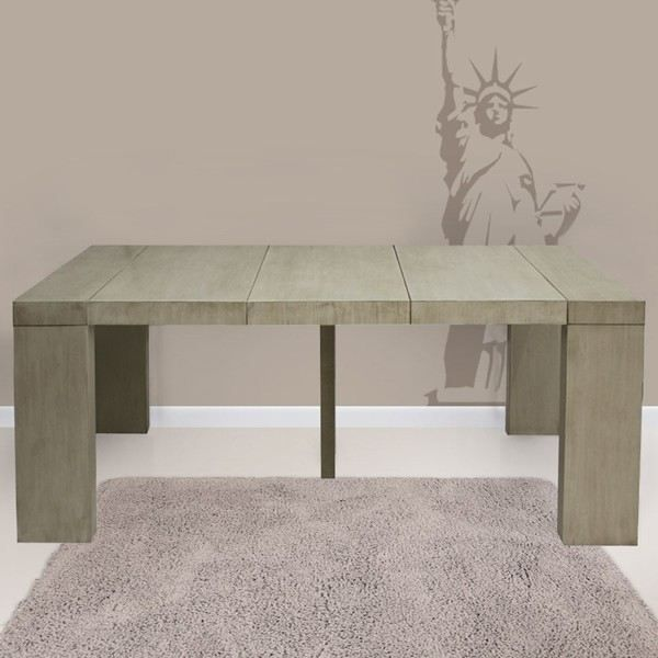 Table console extensible natura en bois massif achat for Table console extensible grise