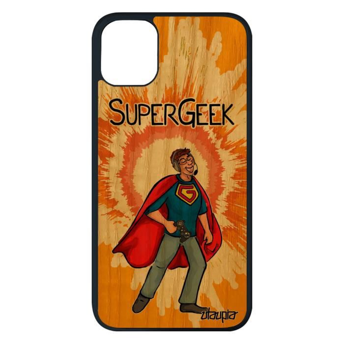 coque iphone 11 pro max bois silicone super geek b