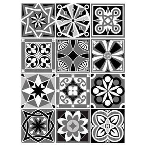 STICKERS Stickers Carreaux de Ciment - MOZAICZEBRA - 12 piè