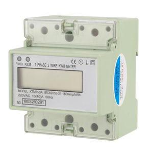JUNESUN Compteur num/érique DC LED 4 Digit 0-9999 Compteur /à Panneau Compteur//Compteur Moins avec c/âble