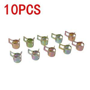 10pcs Collier de serrage 11-18mm en acier inoxydable zingu/é /à deux oreilles pour tube de tuyau dessence Fule Collier de serrage Taille : 13-15mm
