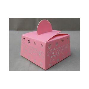 TULLE - NOEUD - RUBAN 50 boîtes à dragées naissance vêtements bébé (rose