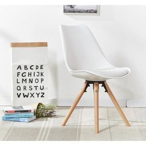 CHAISE Chaise Scandinave Blanche Sophie - Assise Rembourr