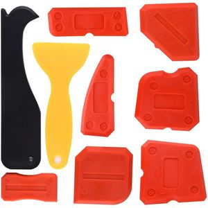 Rouge Outil Lisseur de Joint Silicone Mastic Poignée Plastique Confortable