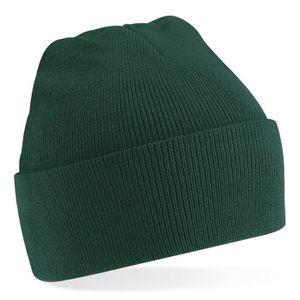 bonnet femme vert bouteille