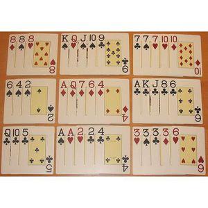 CARTES DE JEU  2 x jeux Cartes à jouer Poker chinois,Treize ou P