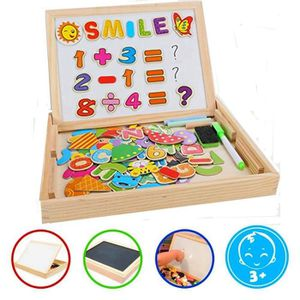 PUZZLE Puzzles Enfant en Bois Magnétique Lettres et Chiff