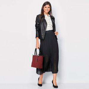 JUPE Jupe longue plissée taille élastique femme