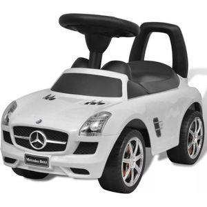 VOITURE ELECTRIQUE ENFANT Mercedes Benz Pousse-pied Voiture enfant blanc Voi
