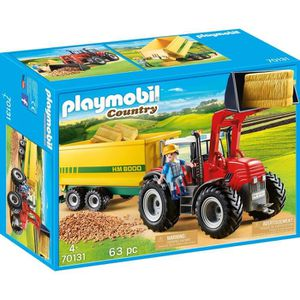 UNIVERS MINIATURE PLAYMOBIL 70131 - Country La Ferme - Grand tracteu