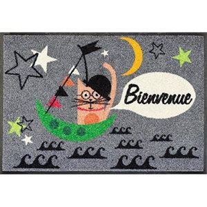 Wash dry 064312 bienvenue cat tapis nylon caoutchouc for Tapis cuisine wash and dry