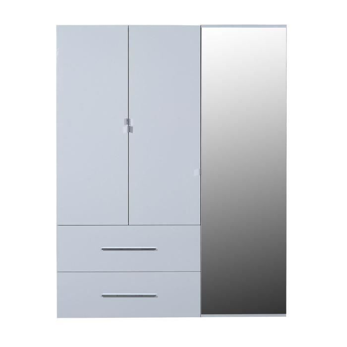 armoire blanc laque avec miroir. Black Bedroom Furniture Sets. Home Design Ideas