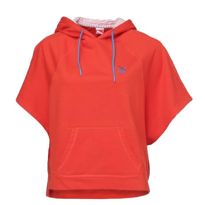 PUMA Sweatshirt Large Femme - Orange