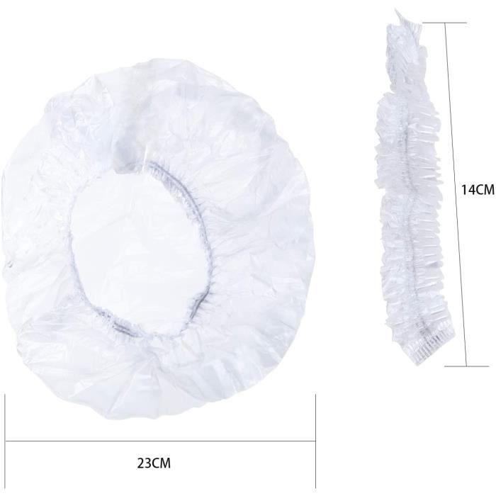 TsunNee Lot de 200 bonnets de douche jetables. tanches. lastiques. pour le traitement des cheveux. pour spa. usage domestique[2118]