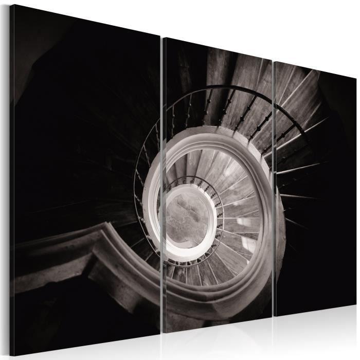 Tableau - Escalier en colimaçon - 120x80 - Villes - Villes du monde