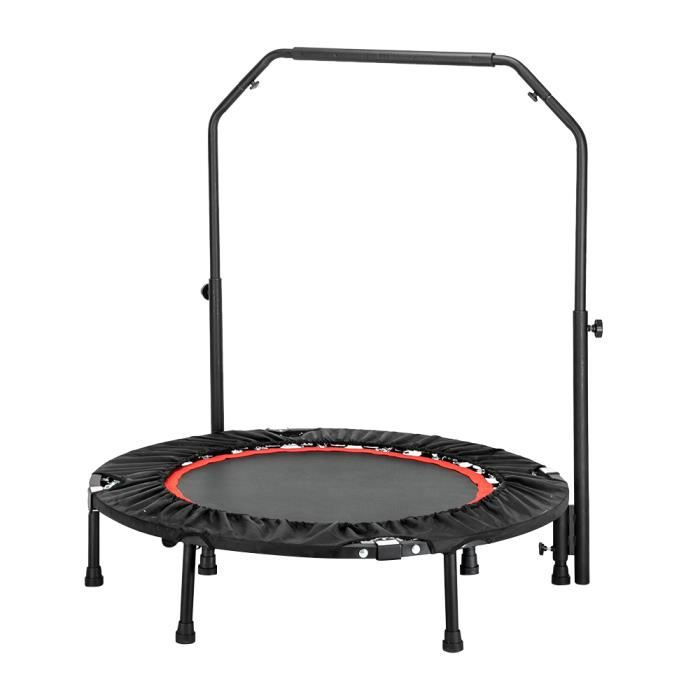 Mini Trampoline Fitness Pliable Double-Bar -Ø102cm, Noir