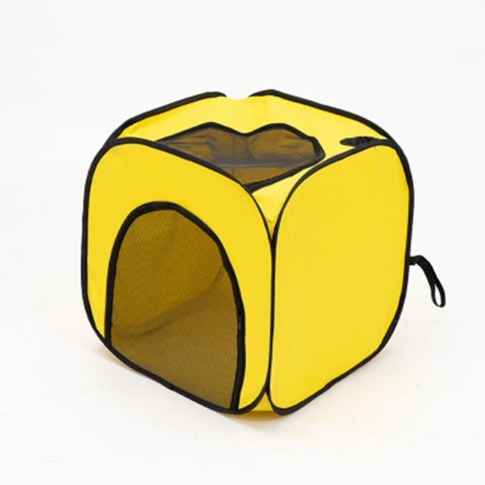 Boîte de séchage carrée jaune - Boîte de séchage pour animaux de compagnie - Tente de bain pour chat et chien