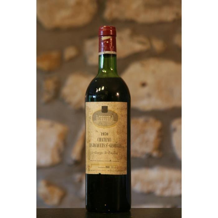 Vin rouge, Château les Jacquets St Georges 1970 Rouge