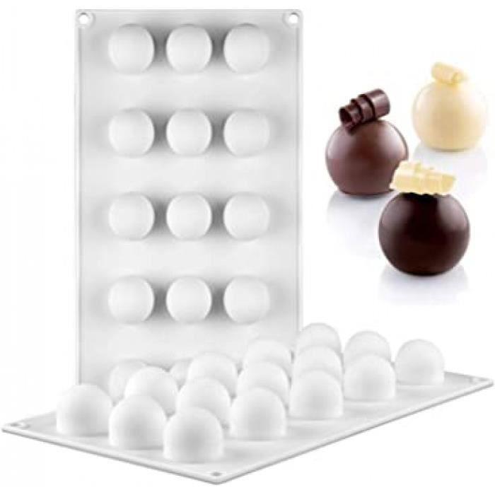 jayscherry forme de sphère moule en silicone antiadhésif - moule en silicone moules multi-cavités pour muffins, gâteau, savon, gelée