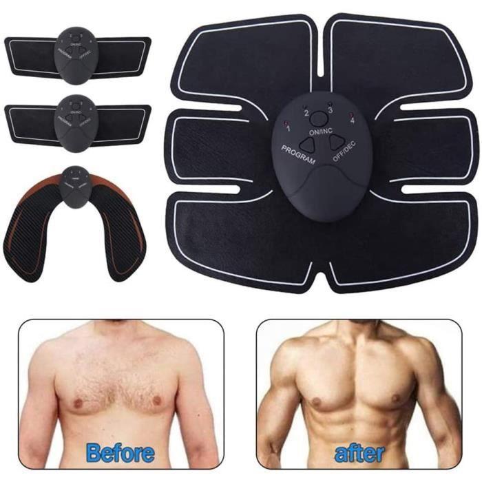 CEINTURE D'ELECTROSTIMULATION EMS ABS Stimulateur tonification Abdominale Ceinture Bras Hanche Muscle Abdominal Muscle Formateu52