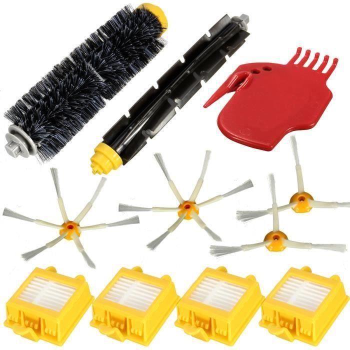 Kit Brosse Latéral Filtre Nettoyage Pr iRobot Roomba 700 760 770 780 790 Serie FR45093