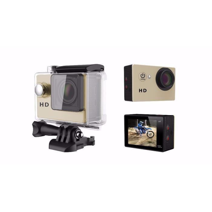 Gold Mini Action Camera Vidéo Appareil photo grand angle de 90 degrés Caméra 2 pouces 720p 30fps GOPRO HERO STYLE CAM