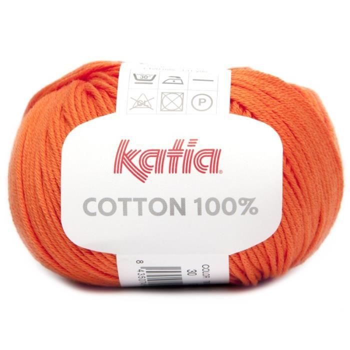 Coton COTTON 100% - Katia 30 Orange