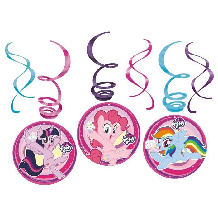 MY LITTLE PONY Lot de 6 Spirales Décoratives
