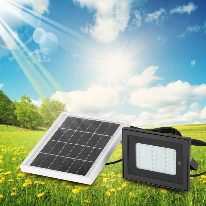 JARD-54 LED Lampadaire solaire étanche extérieur jardin lumière murale réverbère (blanc chaud)☪Lv.life☪NIM