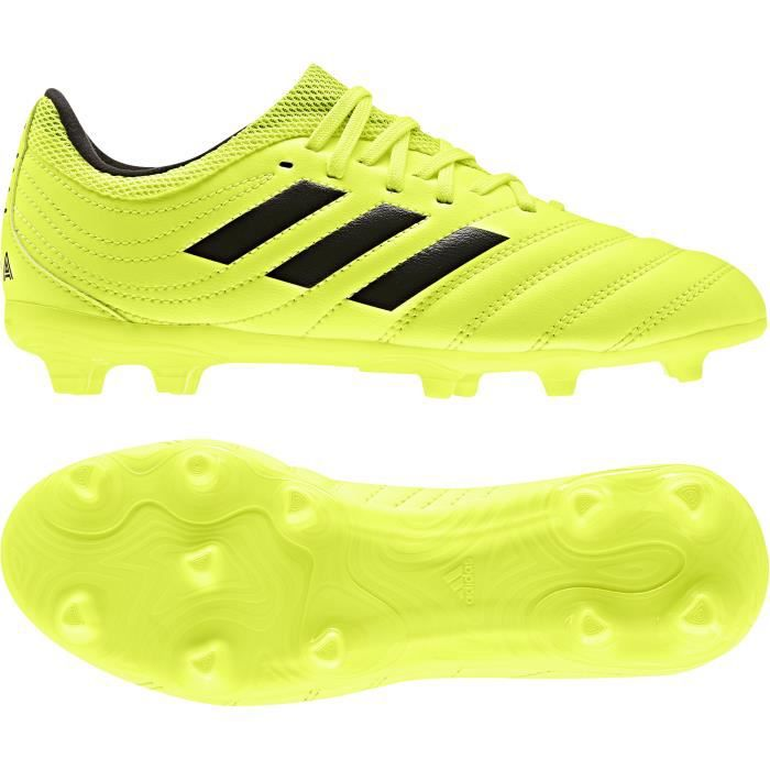ADIDAS PERFORMANCE Chaussures de Football Copa 19.3 FG J - Enfant - Jaune/Noir